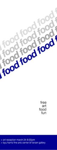 FOOD Art Exhibition Poster